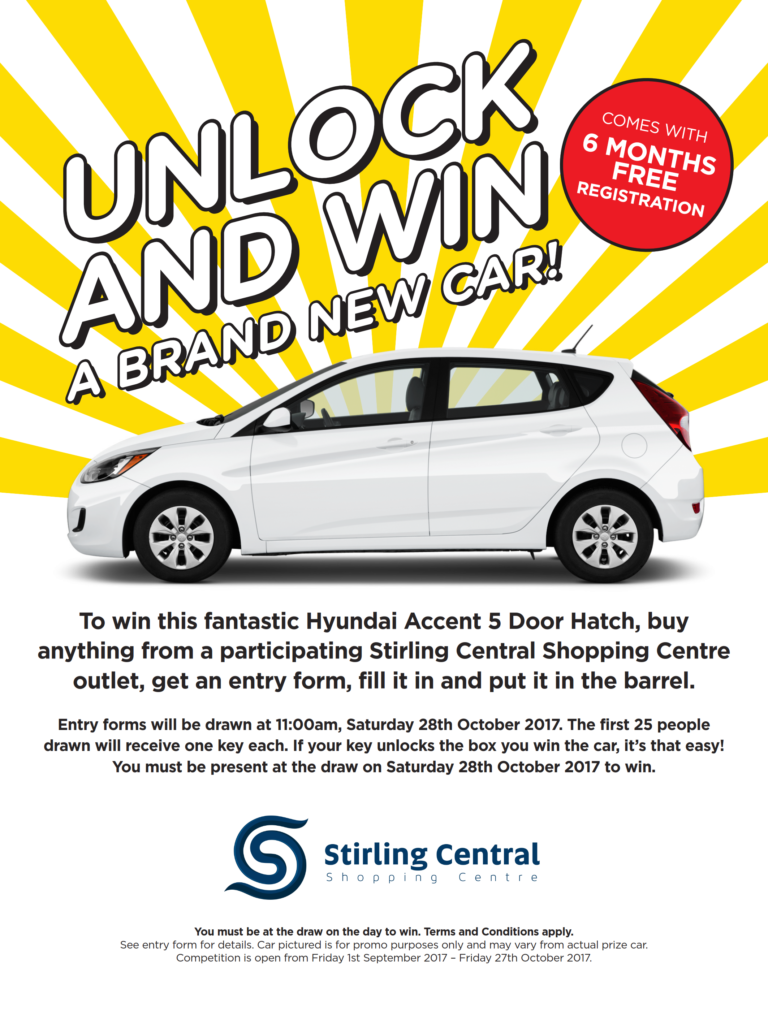 Unlock And Win A Brand New Hyundai Accent Hatch